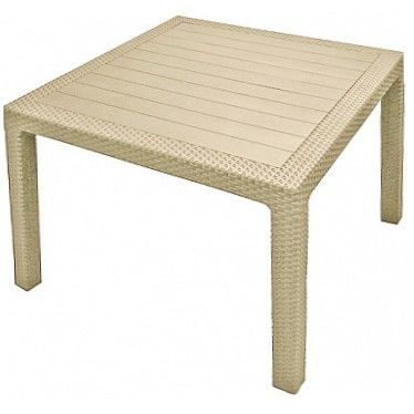 Стол MELODY QUARTET TABLE  95 х 95 х 75 cm белый Curver