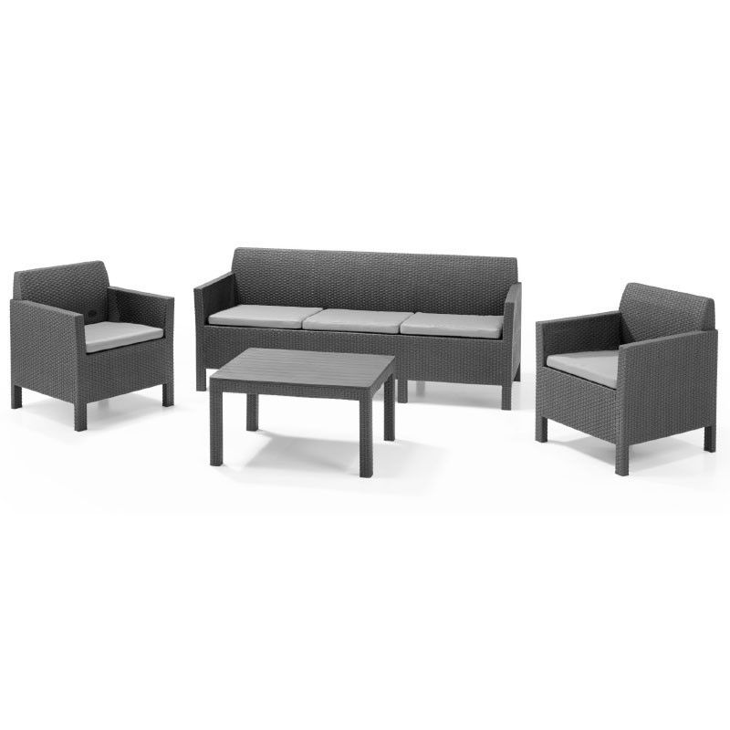 Комплект мебели Orlando Set With 3 Seat Sofa (графит)